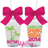 Spring Break Palm Tree Tumbler
