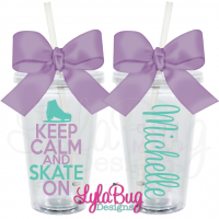 Keep Calm and Skate On Tumbler