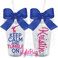Keep Calm & Tumble On Personalized Acrylic Tumbler