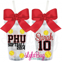 Softball Player Acrylic Tumbler