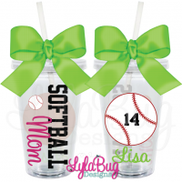 Softball Mom Acrylic Tumbler