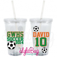 Soccer Player Personalized Acrylic Tumbler