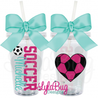 Soccer Heart Personalized Acrylic Tumbler