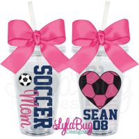 Soccer Mom Heart Personalized Acrylic Tumbler
