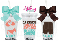Our Honeymoon Personalized Acrylic Tumbler Set