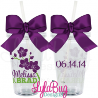 Orchid Branch Wedding Tumbler