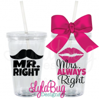Mr & Mrs Right Tumbler Set
