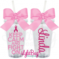 Keep Calm and Fight On Acrylic Tumbler