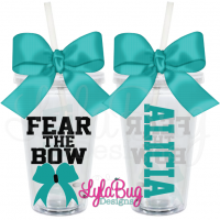 Fear the Bow Cheer Tumbler