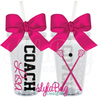Female Lacrosse Coach Tumbler