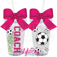Female Soccer Coach Tumbler