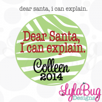 Dear Santa, I can explain. Ornament