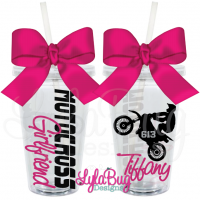 Motocross Girl Personalized Tumbler
